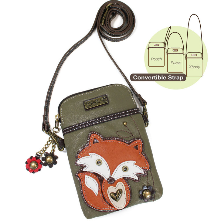 Chala Cell Phone Crossbody - Fox, Olive