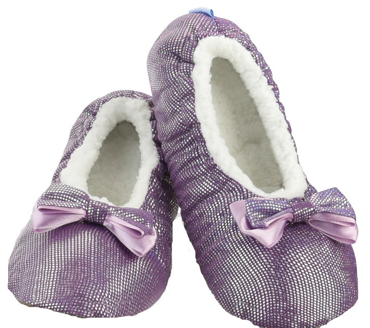 All That Glitters Ballerina Women's Snoozies!® Slippers - Purple