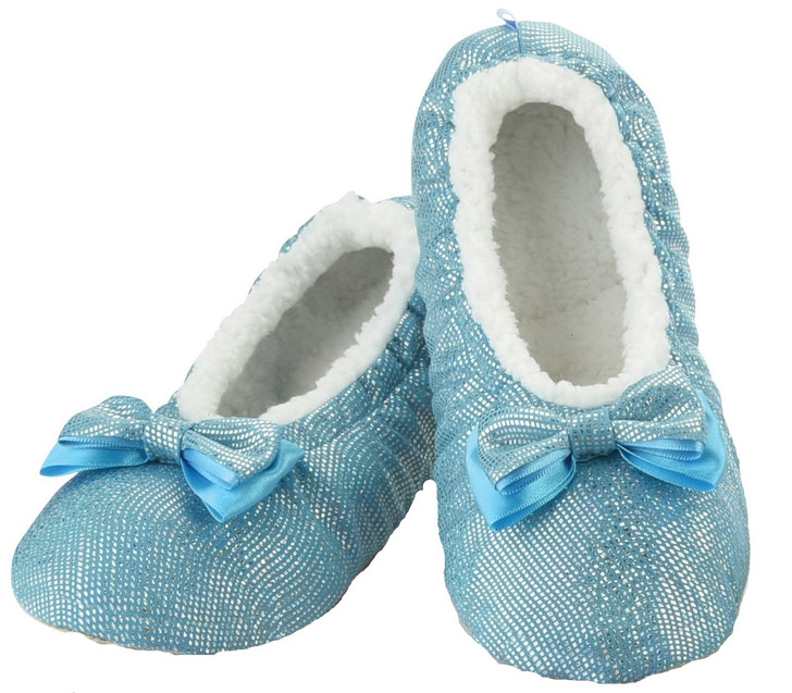 All That Glitters Ballerina Women's Snoozies!® Slippers - Blue