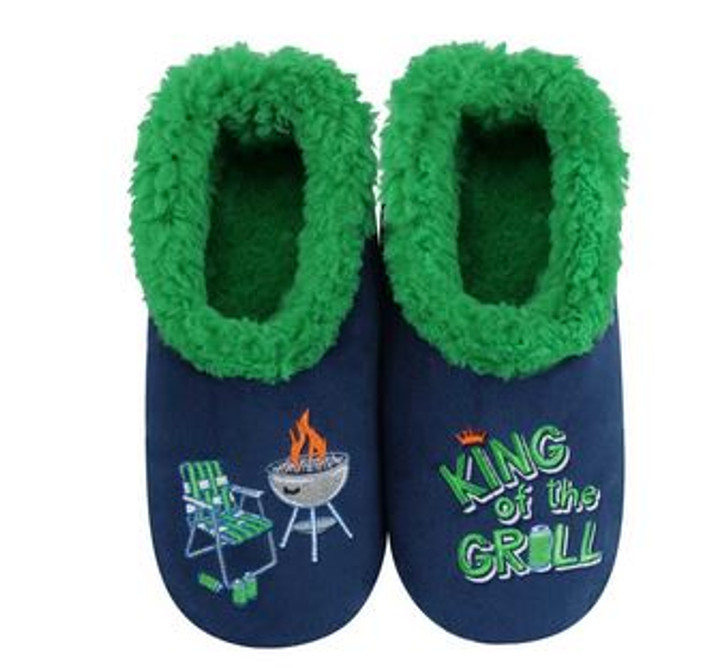 """""""King of The Grill"""" Men's Snoozies® Pairables Slippers"""