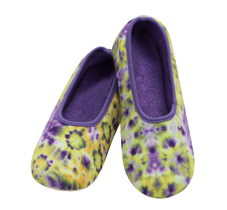 Women's Tie Dye Skinnies® Snoozies! ® Slippers with lightweight cushion insole - Purple