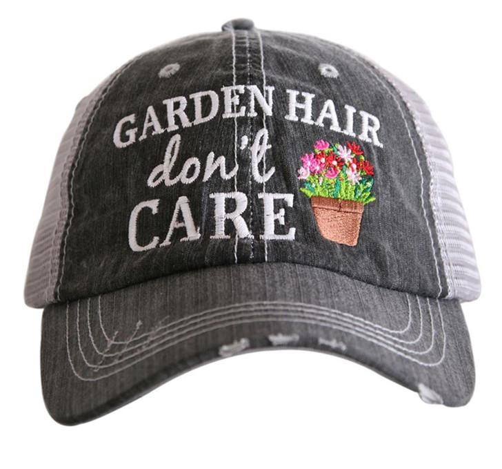 """Garden Hair, Don't Care"" Women's Trucker Hat"