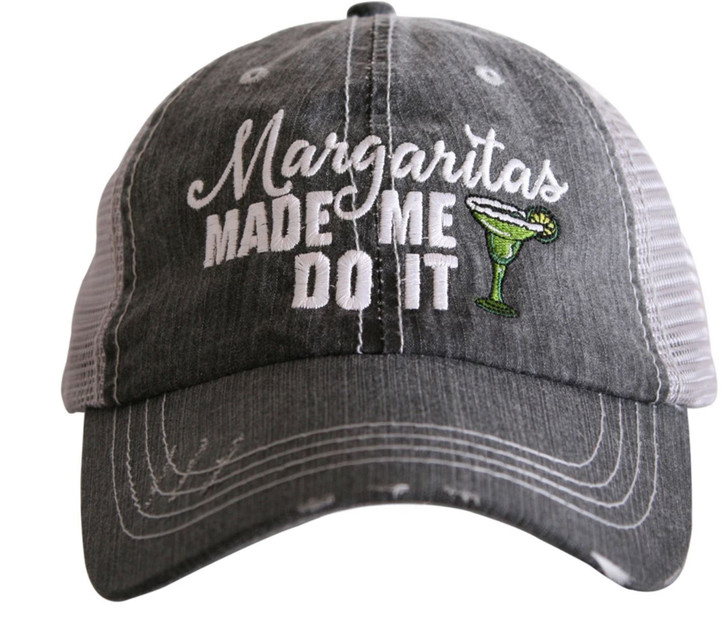 """""""Margaritas Made Me Do It"""" Women's Trucker Hat"""