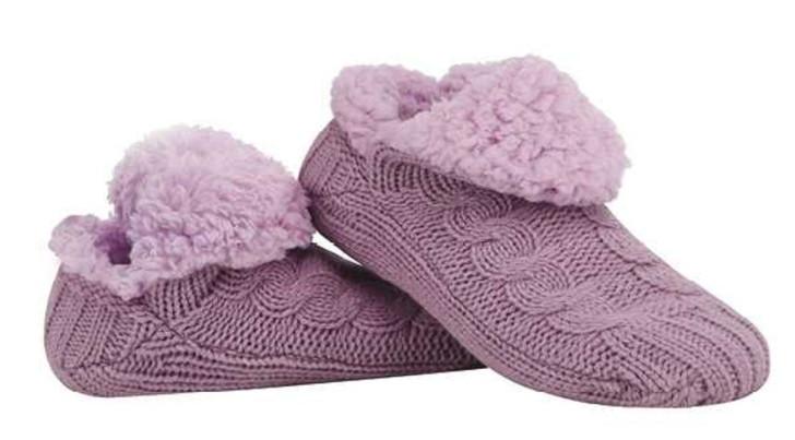 Women's Multi Stitch Microcrew Sherpa Socks - Lavender
