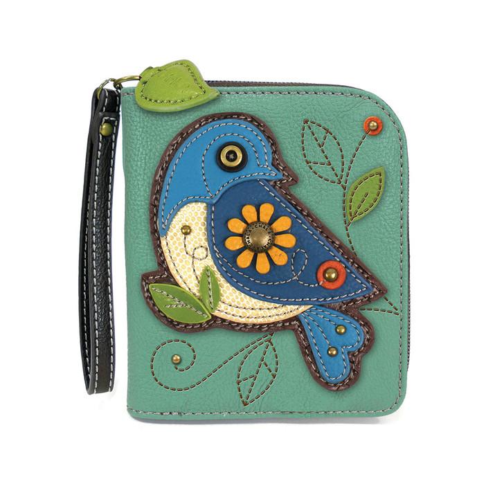 Chala Zip Around Wallet - Bluebird Teal
