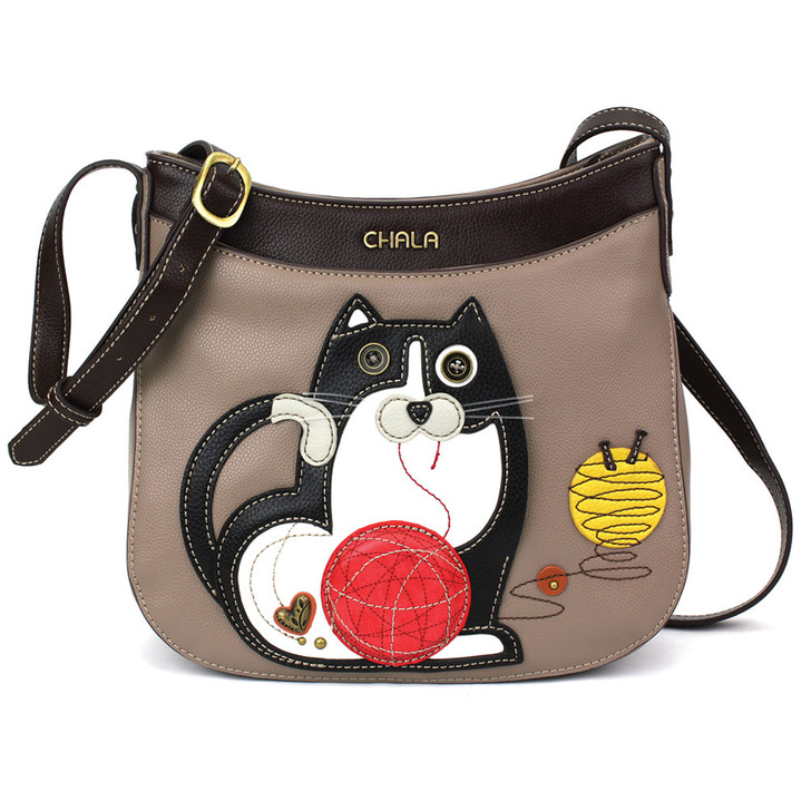 Chala Crescent Crossbody Bag - Fat Cat Gray