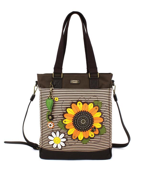 Chala Work Tote - Sunflower Brown Stripe