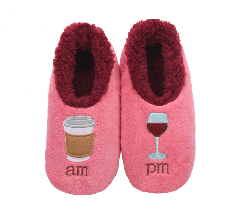 AM/PM  (Coffee/Wine) Women's Pairables Snoozies!® Slippers