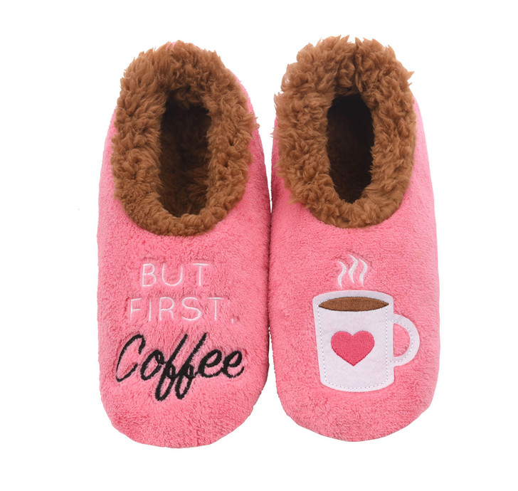 But First Coffee Women's Pairables Snoozies!® Slippers