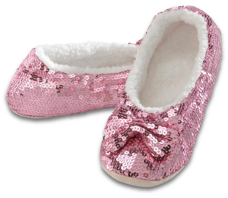 Women's Sequin Ballerina Snoozies!® Slippers - Pink