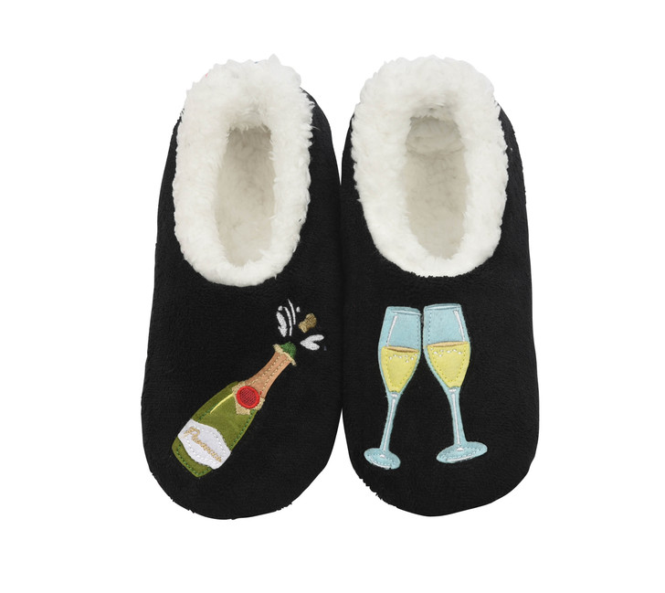 Prosecco  Women's Pairables Snoozies!® Slippers (Black)