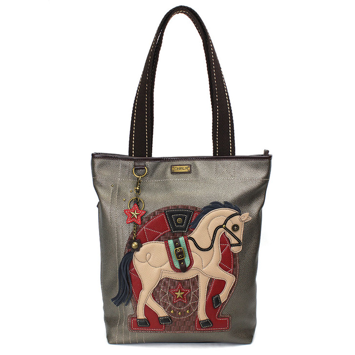 Chala Everyday Zip Tote - Horse/ Pewter