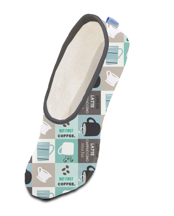 Women's Plush Skinnies® Snoozies!® Slippers -  But First Coffee
