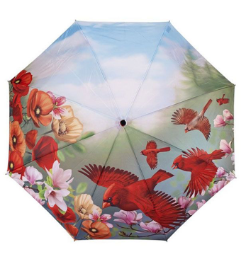 Mia's Cozy Cove Galleria Cardinals Folding Art Umbrella