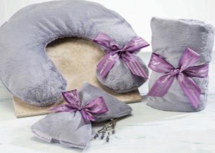 Mia's Cozy Cove Sonoma Lavender Heat Wrap Plush Plata