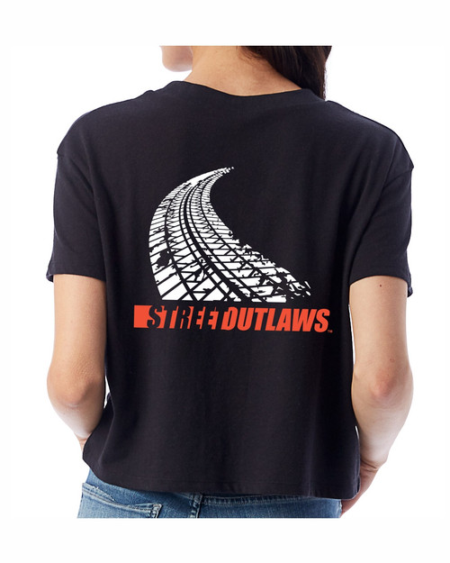 Tire Track Ladies Cropped Tees