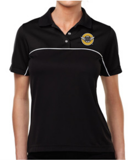 Wings Design Ladies Polo Shirt
