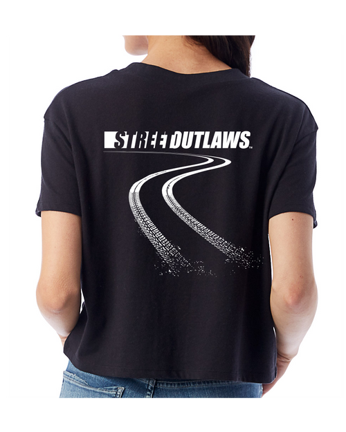 Burning Rubber Ladies Cropped Tees