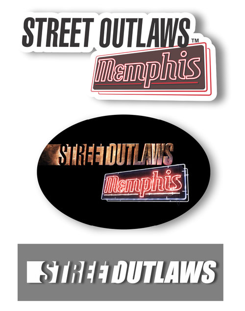 Street Outlaws Decals - set of 3