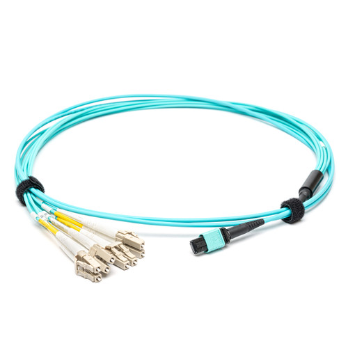 MPO Female to 4 x DPX LC, LSZH, 8 Fibre Breakout Cable