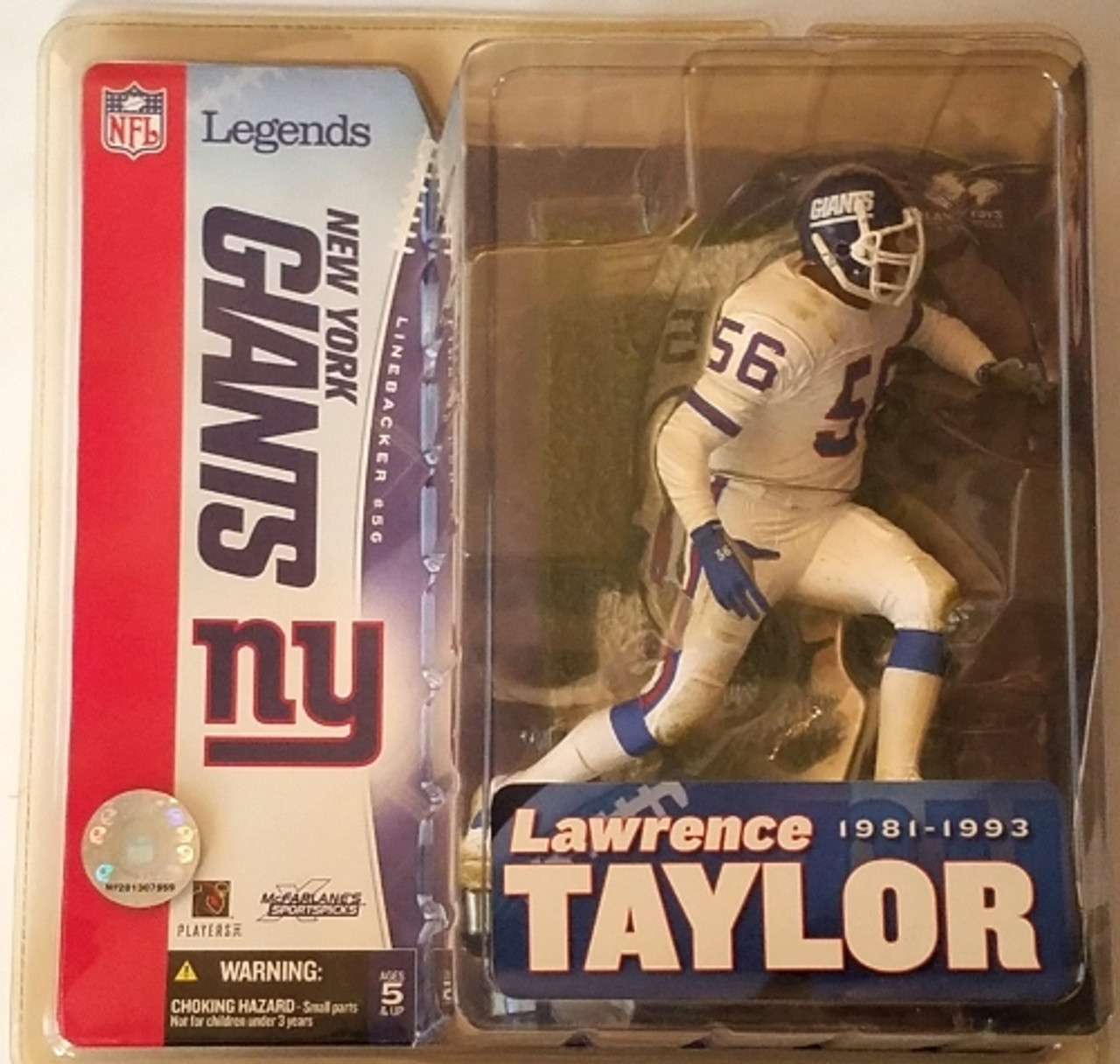 uk availability dd0ff 382be Lawrence Taylor NY Giants Variant (White) NFL Legends 1 Figure