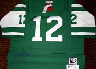 M & N Authentic 1968 New York Jets Joe Namath #12 Dark Jersey
