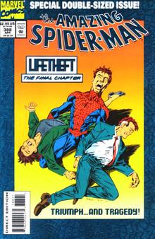 Marvel Comics Amazing Spider-Man #388 (1994) Blue Foil Cover V