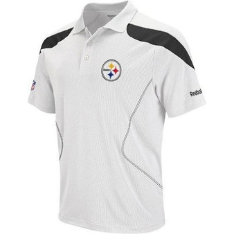 Reebok Pittsburgh Steelers White OnField Coaches Polo