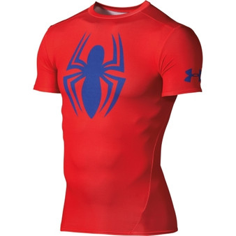 Under Armour Alter Ego Spider-Man Red Compression S/S Shirt