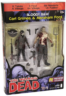 Carl Grimes & Abraham Ford The Walking Dead Comic PX 2-Pack