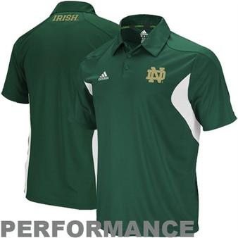 ADIDAS Notre Dame Fighting Irish Green Coaches Polo - ND