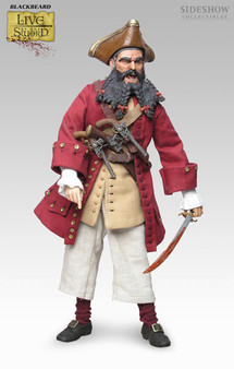 """Sideshow """"Blackbeard Pirate"""" Live by the Sword 12 inch Figure"""