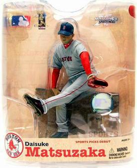 Daisuke Matsuzaka Red Sox Gray Jersey Variant MLB S-21 Figure