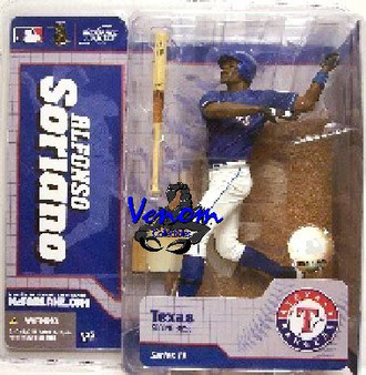 Alfonso Soriano Texas Rangers Blue Jersey Chase MLB S-11 Figure