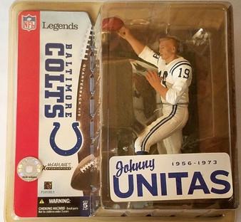 Johnny Unitas Colts (No Helmet) Variant NFL Legends 1 Figure