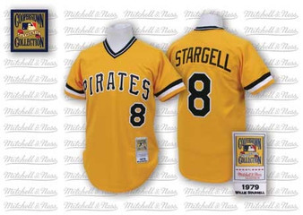M & N Auth. 1979 Pittsburgh Pirates #8 Willie Stargell Jersey