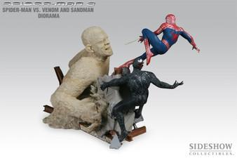Sideshow Spiderman Vs. Venom and Sandman Polystone Diorama