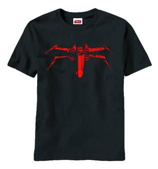 Star Wars Wraith Squadron X-Wing Heather Black T-Shirt