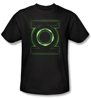 The Green Lantern Movie Glow Logo Black T-Shirt