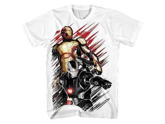 Iron Man 3 Marvel .50 Caliber White T-Shirt
