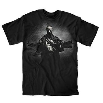 Marvel Punisher Two Guns, No Waiting Black T-Shirt
