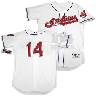 """Cleveland Indians #14 Larry Doby AUTH. """"'07 Tribute"""" Home Jersey"""
