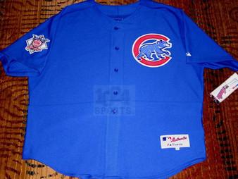 Chicago Cubs #25 Derrek Lee AUTHENTIC Alt. Blue Jersey