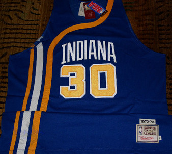 M & N Auth. '72-73 George McGinnis #30 Indiana Pacers Rd Jersey