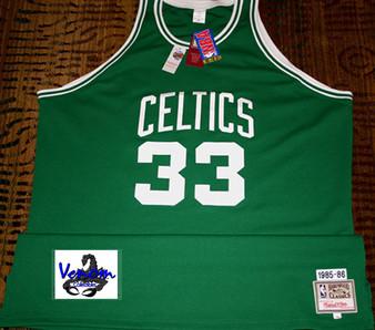 M & N Auth. '85-86 Larry Bird #33 Boston Celtics Green Rd Jersey