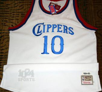 M & N Auth. '84-85 Norm Nixon #10 LA Clippers White Jersey