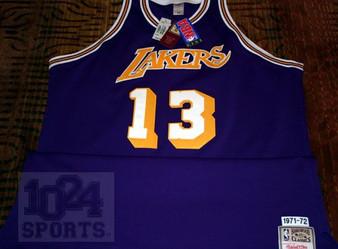 M & N Auth. '71-72 Wilt Chamberlain #13 LA Lakers Road Jersey