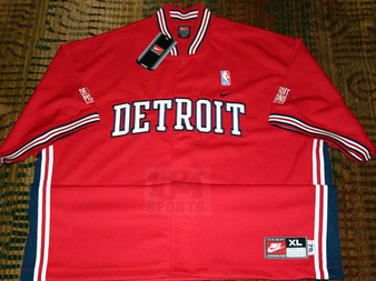 Nike Rewind 1975 Detroit Pistions Red Warmup Shooting Jersey