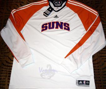 Adidas Phoenix Suns White On-Court LS Shooting Shirt