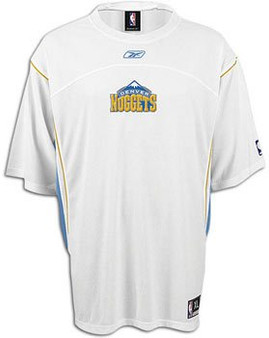 Reebok Auth. Denver Nuggets Short-Sleeve Shooting Shirt